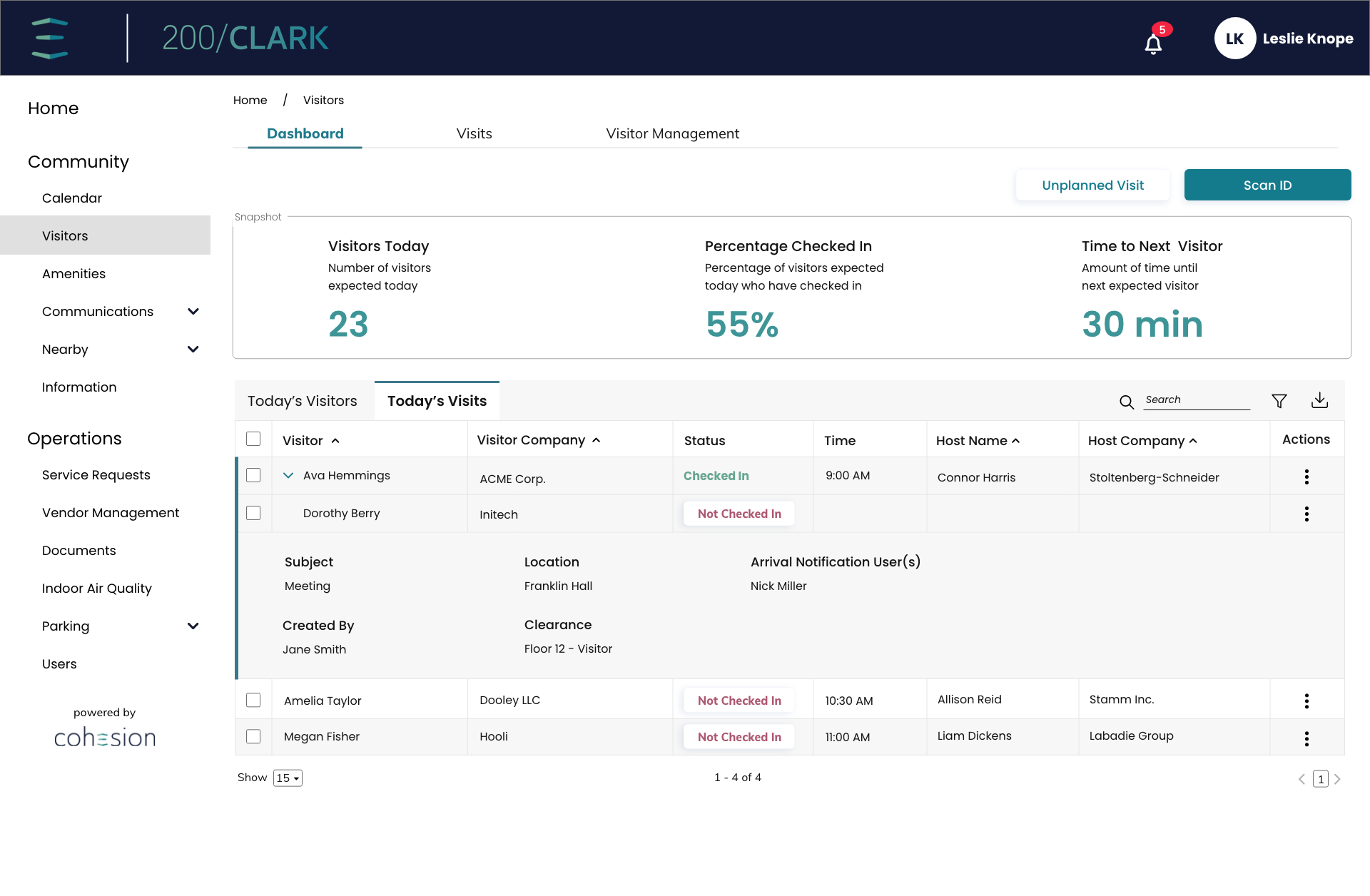 Tenant-Manager-Dashboard-Today's-Visitors-Expand