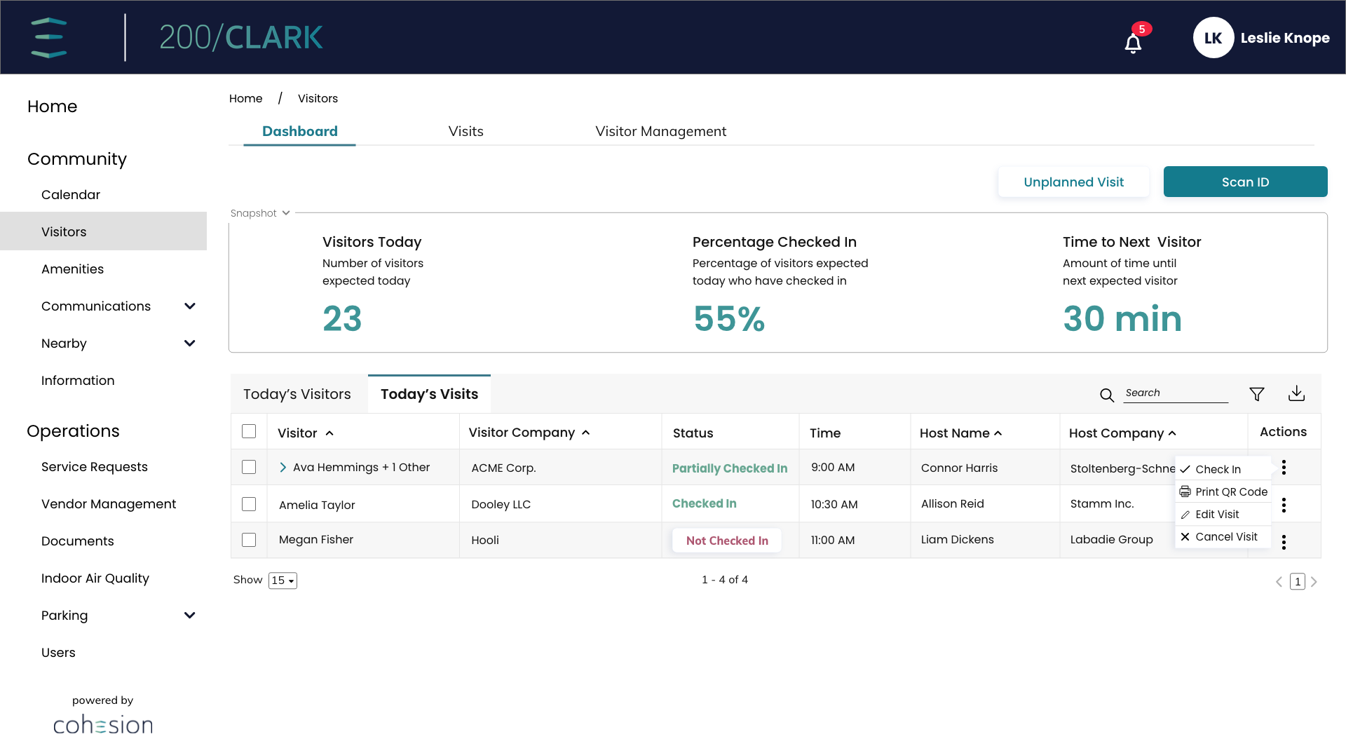 Tenant-Manager-Dashboard-Today's-Visitors